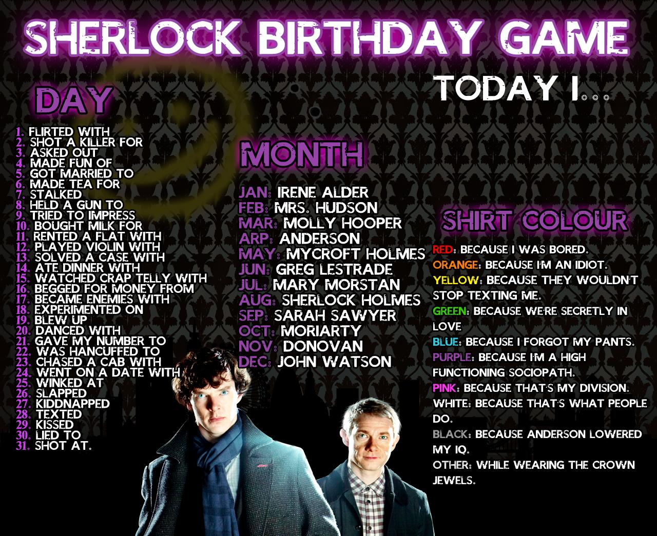 Sherlock Birthday Meme by AgentLaufeyson on DeviantArt