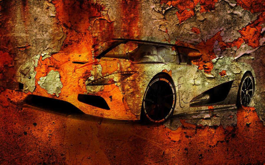 Koenigsegg old wall poster by Razumovics