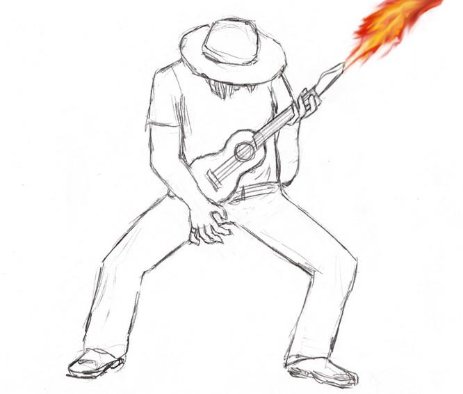 Flamethrower Ukulele by Blackbird93