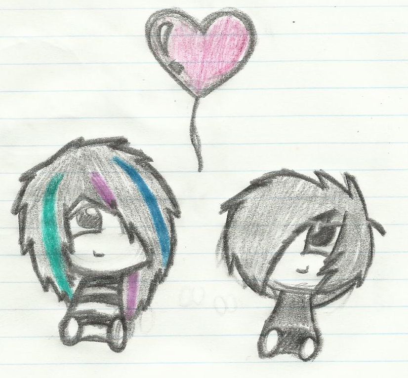 Emo Girl Drawing Drawings Chibi Emo Love by