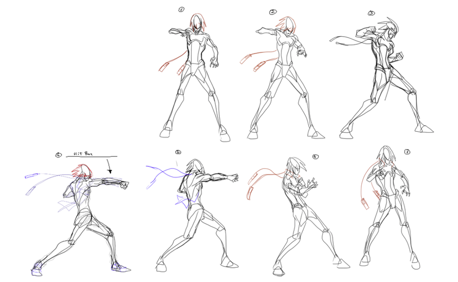 Medium Punch Animation Frames By Supermariotto On