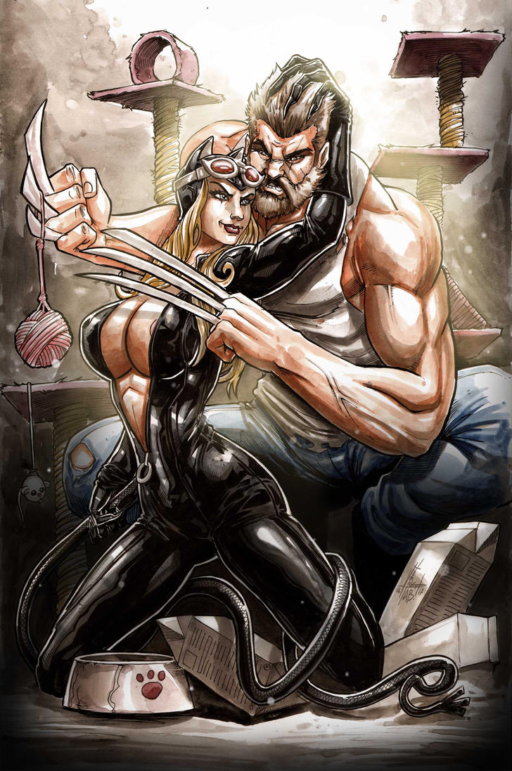 Catwoman Vs Wolvie by Superchica
