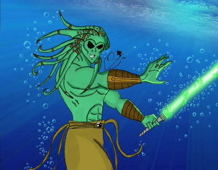 Kit Fisto Underwater