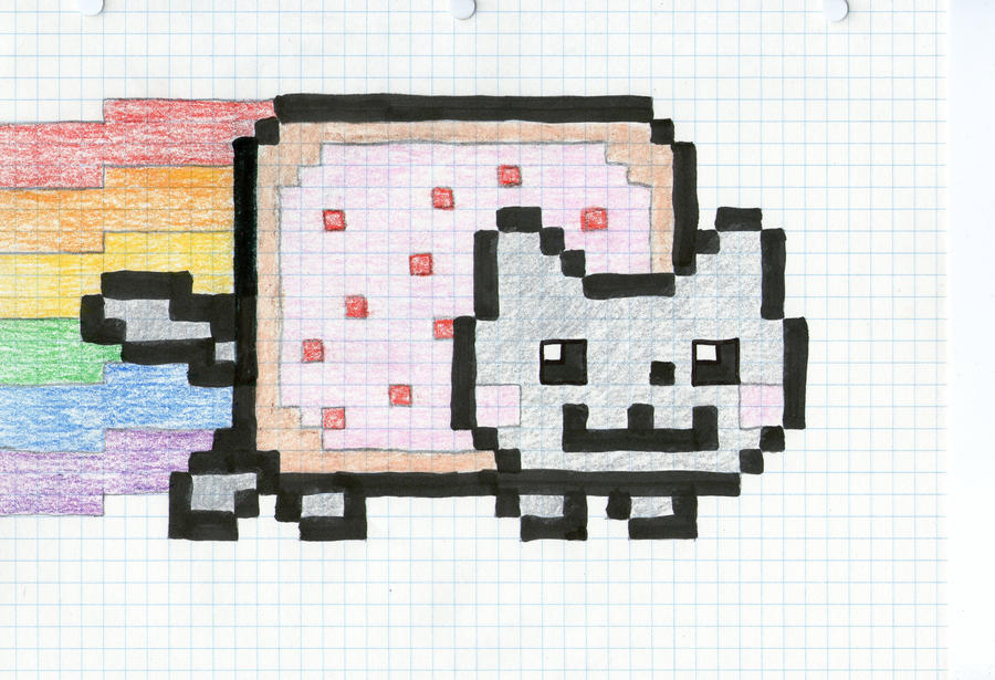 nyan cat drawing by cyber567