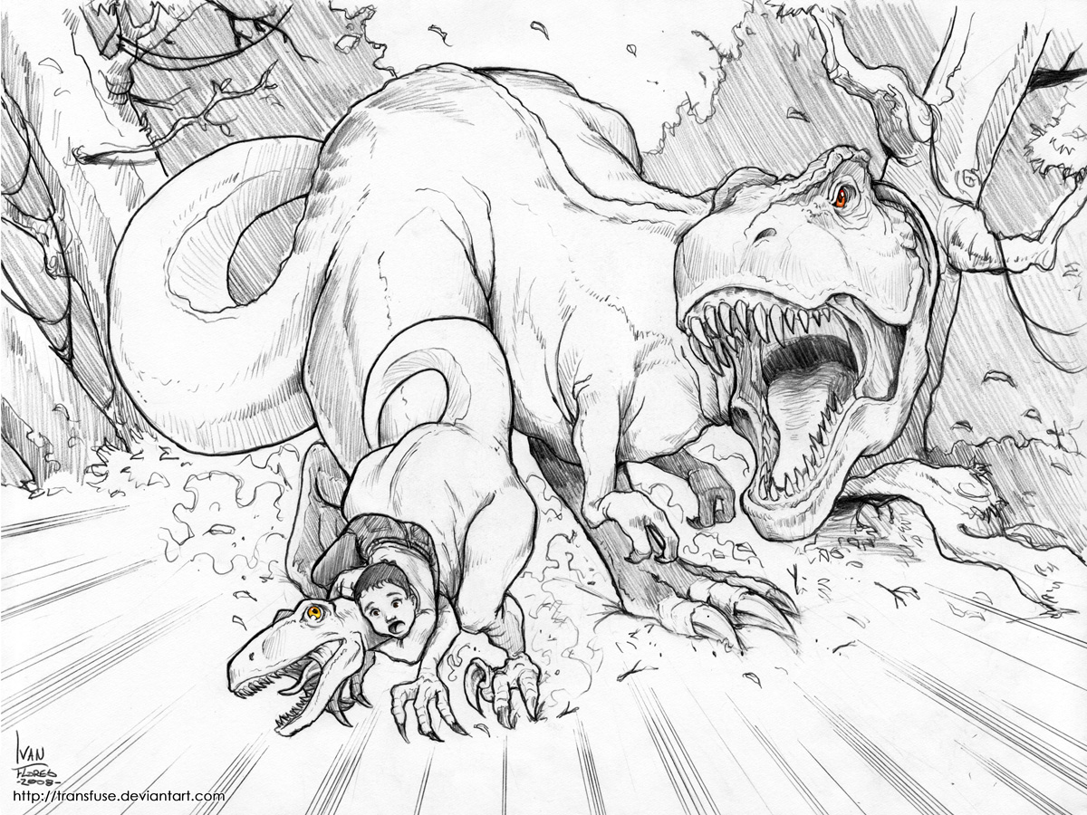 t_rex_chase_by_transfuse