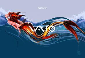 Sony Vaio Sound Waves by transfuse