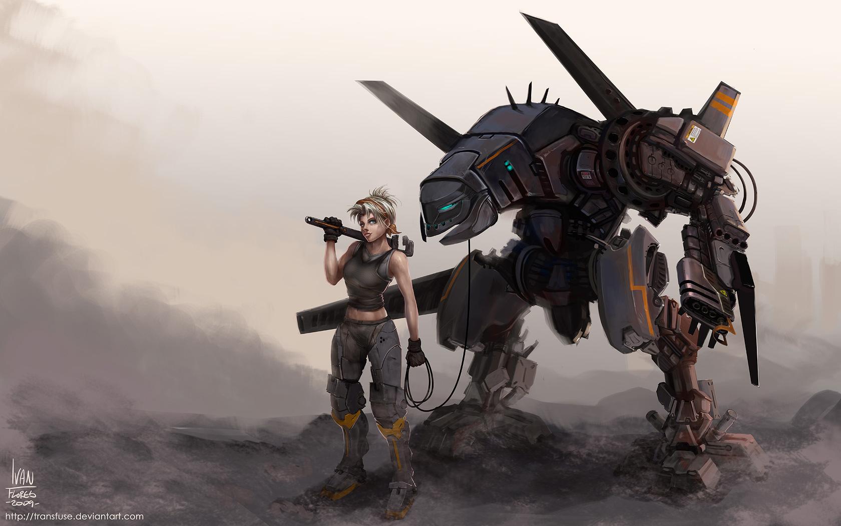 3d badass girl destroyed by mutants - 1 8