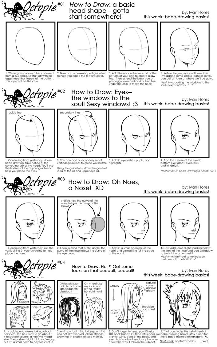 Octopie 1: Babe-drawing Basics by transfuse