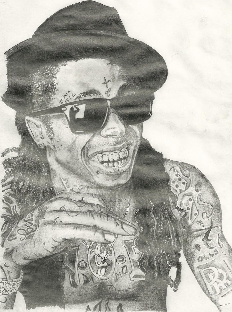 Pencil Drawings Of Lil Wayne Lil Wayne by Doingitdi...
