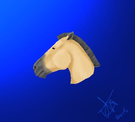 Dun Horse Head by tilachihuahua