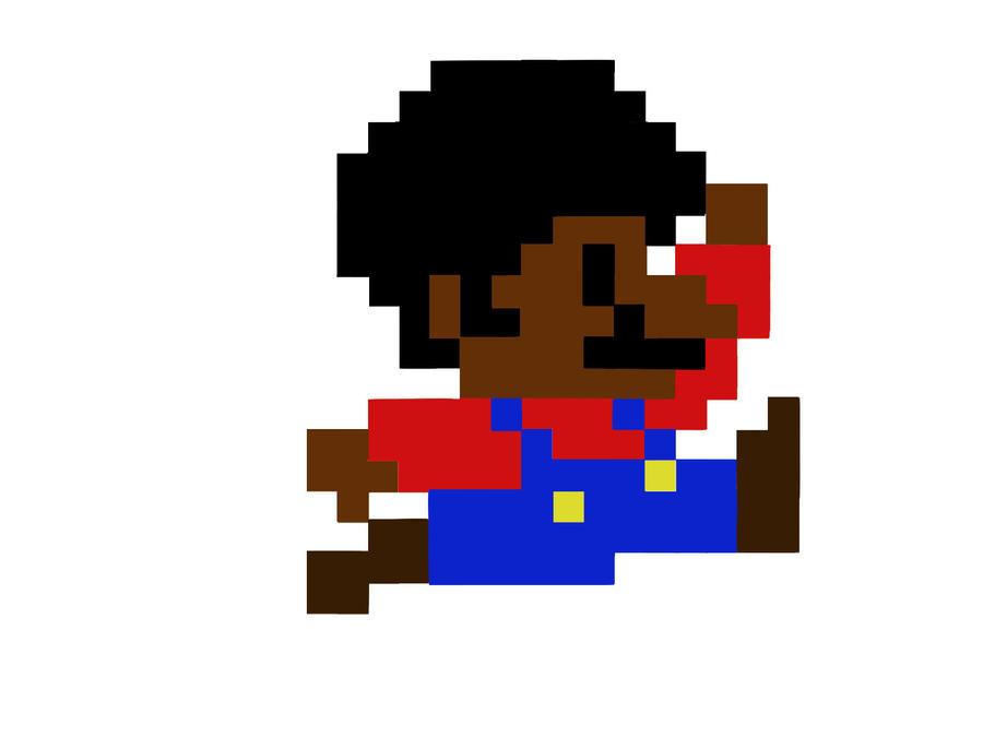 Afro Mario by Gabian on DeviantArt