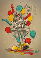 Clown Vs Rain by dracoimagem-com