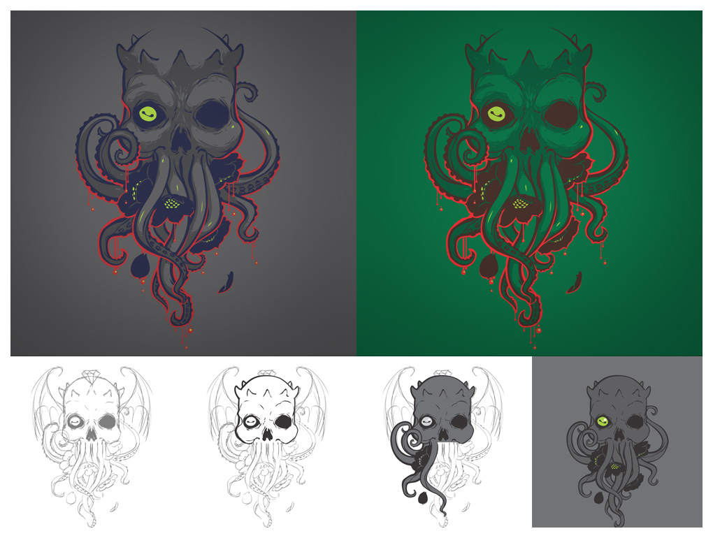 Lovecraft - process by dracoimagem-com