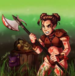 DnD Berserker/Barbarian Halfling by Otakatt