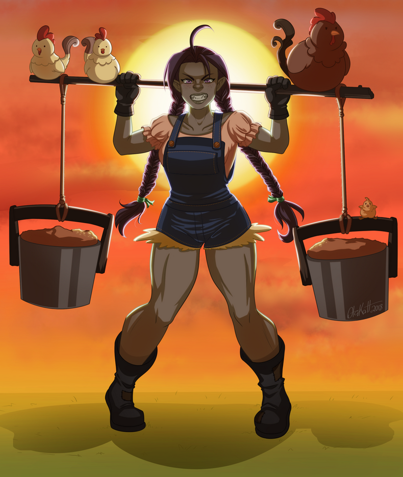 Create A Hero 2 - Female Orc Farmer by Otakatt