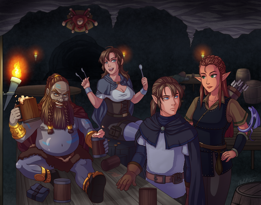 Dungeons and Dragons Group Commission by Otakatt