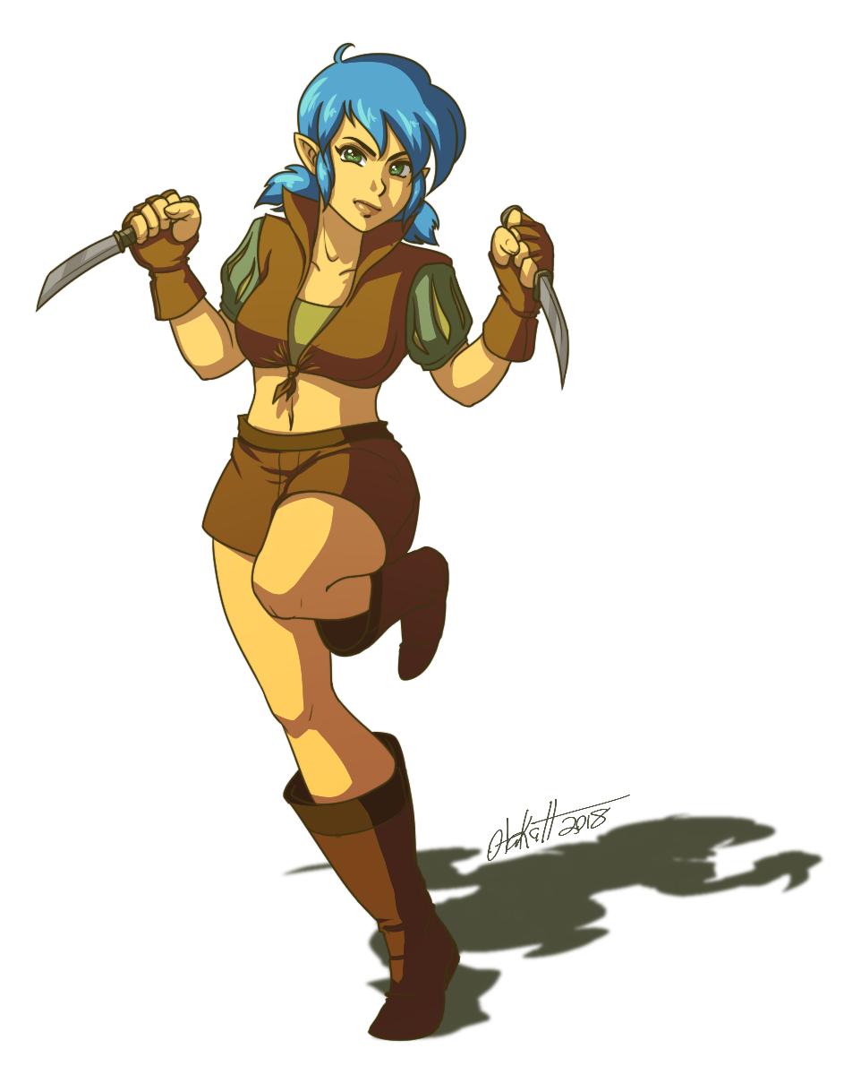 FF1 Female Thief by Otakatt