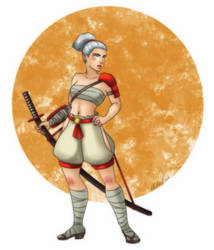 Create A Hero 3 - Female Aasimar Samurai