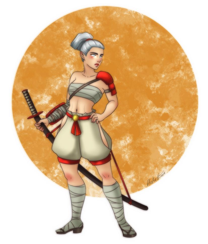 Create A Hero 3 - Female Aasimar Samurai by Otakatt