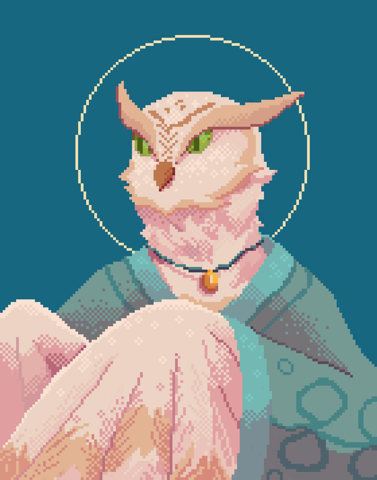 Pixel portrait