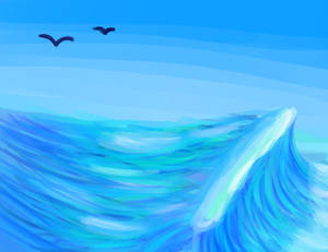 Waves and birds, I guess