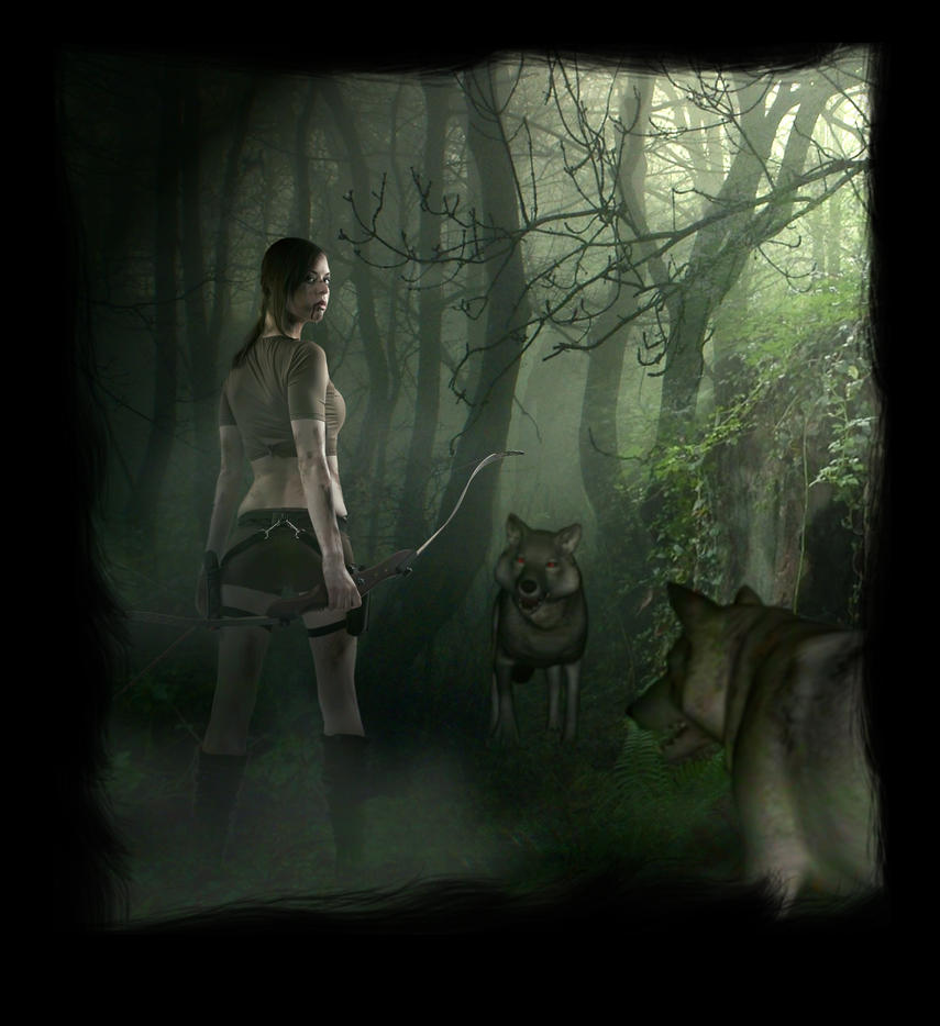 Lara and the wolves by Astralview
