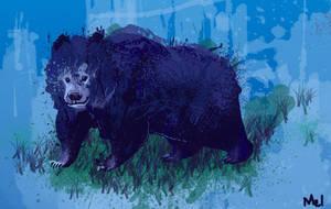 Blues Bear by MelDraws