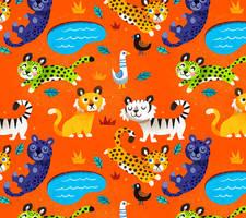Jungle Cat Pattern by MelDraws