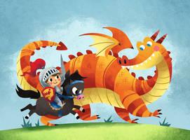 Dragon Knight by MelDraws