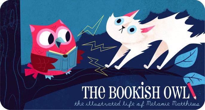 Bookish Owl by MelDraws