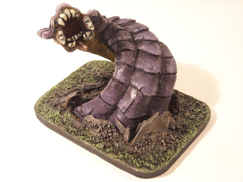 Dnd Mini - Purple Worm 1 by HeyLookItsAMoose