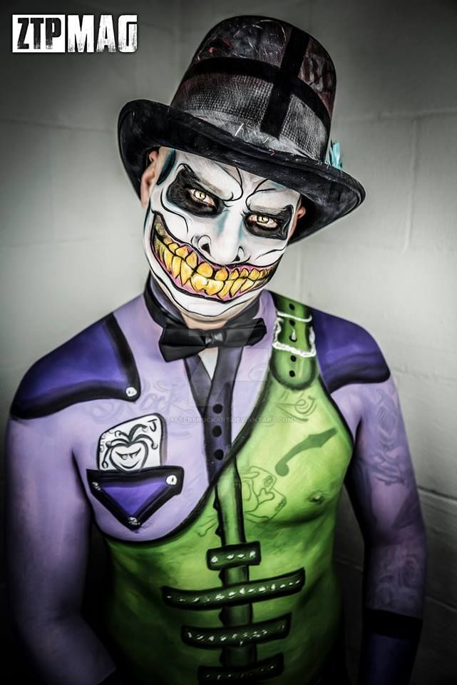 Airbrush Joker Wallpaper: Joker Body Paint By AftershockArt On DeviantArt