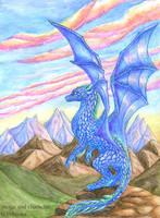 Indigo dragon by chaoka