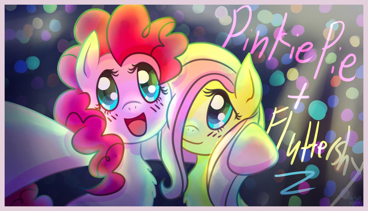 Pinkie pie and fluttershy at the party by shiita64 on deviantart