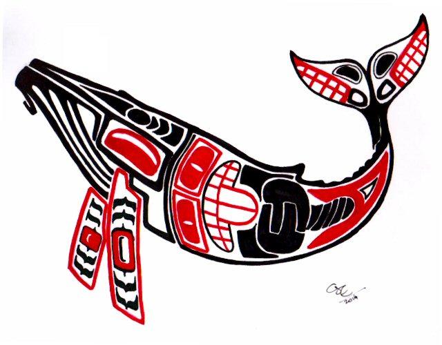 Haida Art Whale Humpback whale Haida by Sekine on DeviantArt