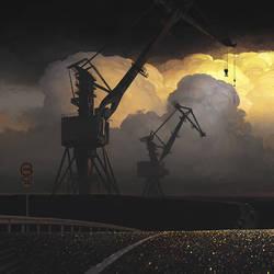 Cranes by Surnov83