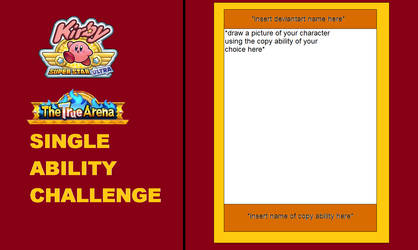 Kirby True Arena Single Ability challenge template