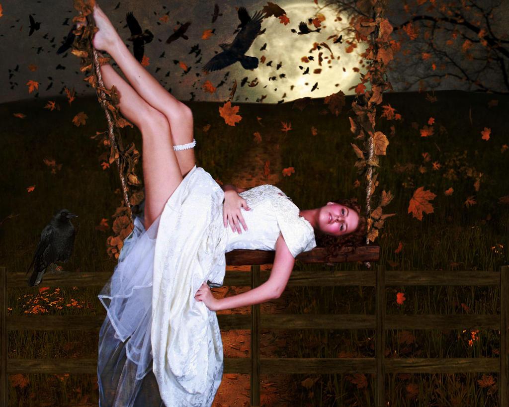 Autumn Full Moon by TheFantaSim