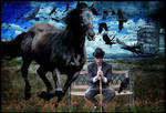 Black Crows With Black Horse