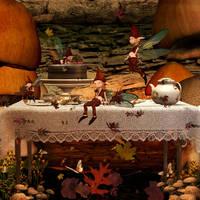 Against The Mushroom Wall by TheFantaSim
