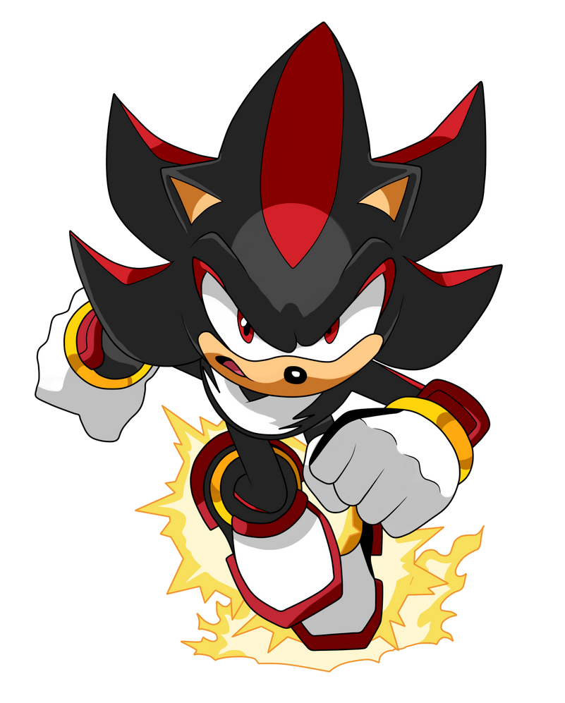 how to draw shadow the hedgehog running