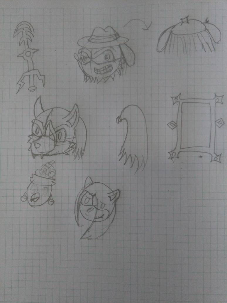 Just few doodles by XalenTheWolf