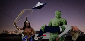 Wonder Woman Versus the Martian Invasion
