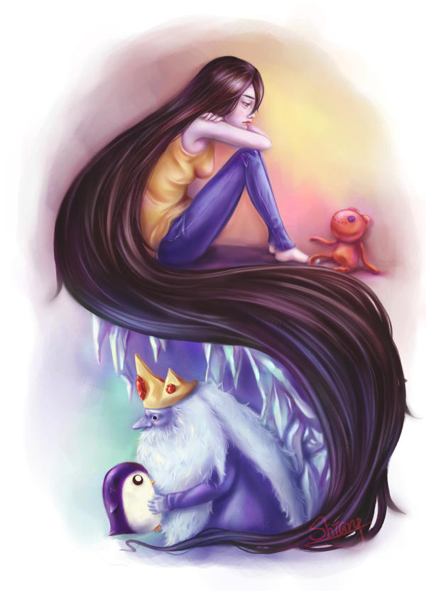 Ice king and Marceline by ShiangEve