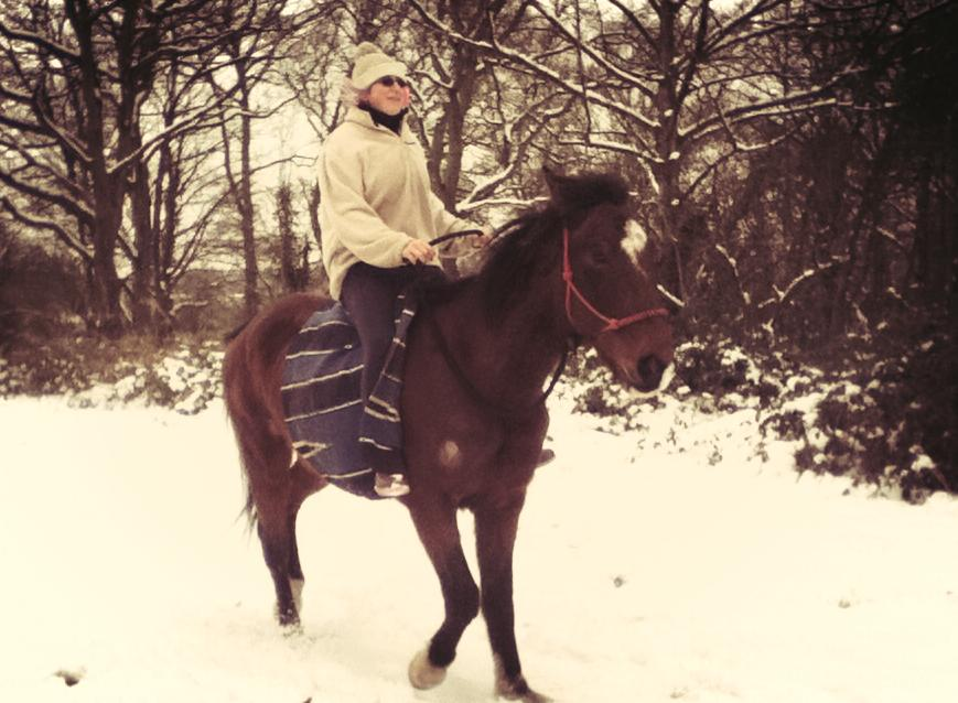 Riding Tackless in the Snow by StarCrossedPsycho