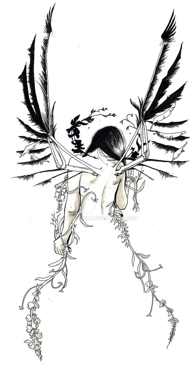 Comm: ANGEL TATTOO for Crystal by MacDoninri