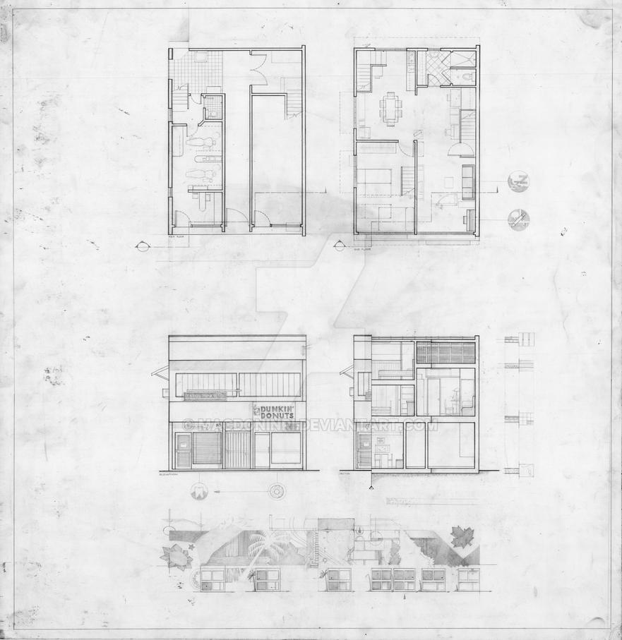 arch drawing house plan by macdoninri