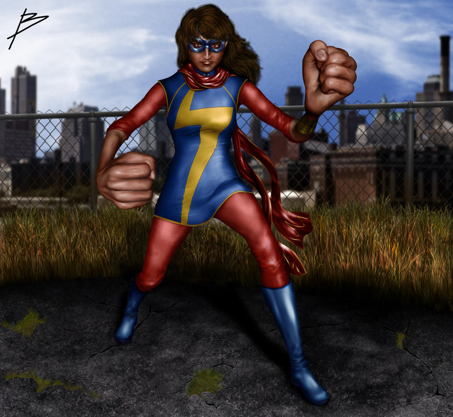 Kamala Khan: Ms. Marvel by bszpak