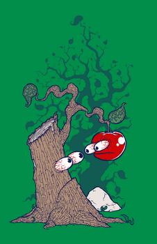 Tree and Apple T-shirt Design