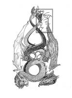 Amphiptere and Serpent by ObloquyCondemed
